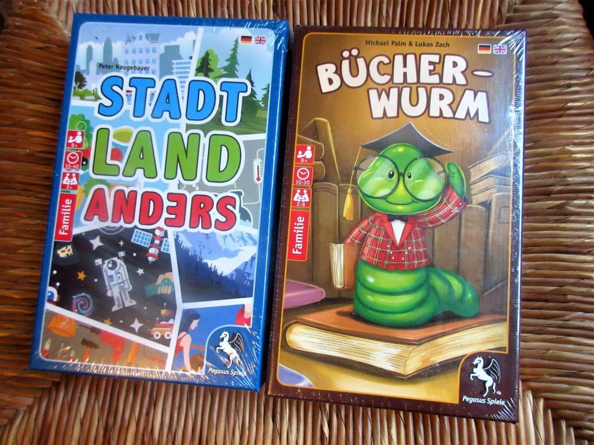 4. Adventsverlosung: Bücherwurm & Stadt, Land, Anders