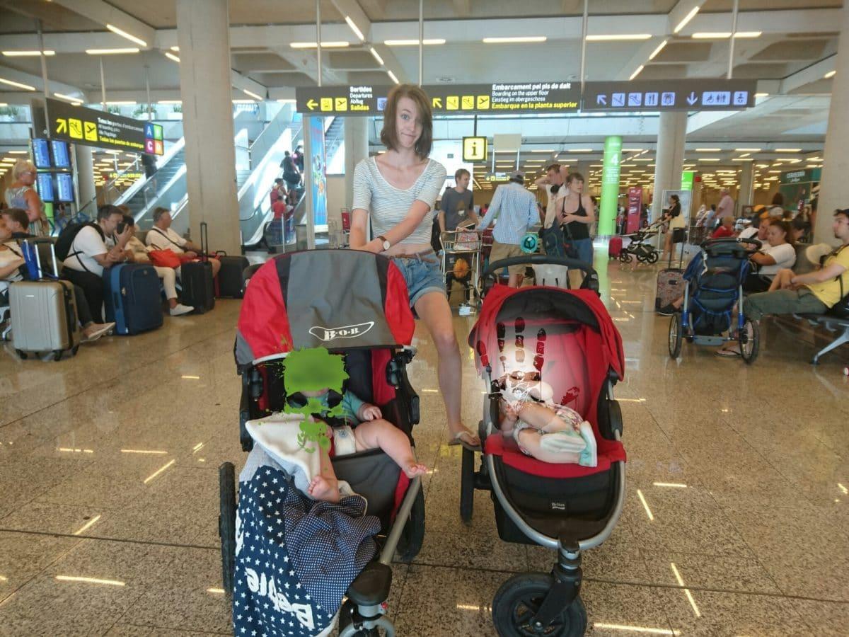 Der erste Flug: mit meiner Familie hoch oben in der Luft